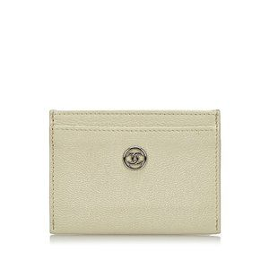 Chanel Cream White Leather Card Holder